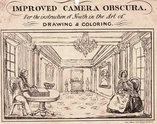 camera obscura. a box camera obscura on a